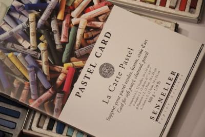 Sennelier pastellalused - abrasiivne toonitud papp, komplektis erinevad toonid