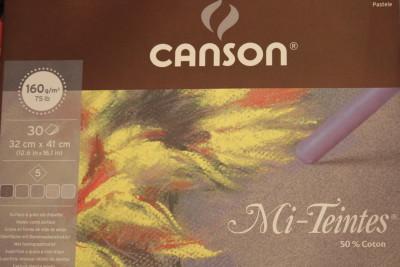 Canson Mi Teintes pastellipaberid plokis, kornilised, erinevad toonid, keiu kuresaar