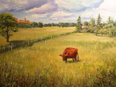 Viimane piimalehm Keiu Kuresaar maastik maaelu õlimaal Eesti karjamaa linn talu maaleht