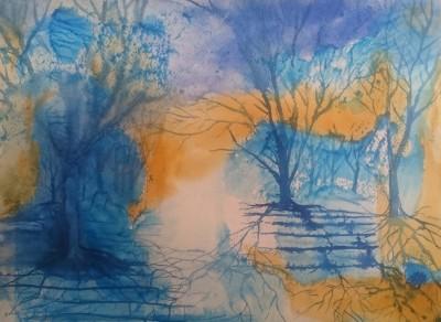 akvarell puude sosinad kunst maal kunstnik keiu kuresaar