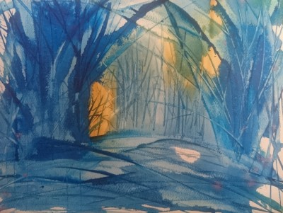 akvarellmaal viimased kiired eesti mets võsa sinine keiu kuresaar