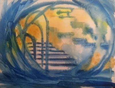 oblivion akvarell vesivärv maal kunst sinine keiu kuresaar