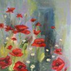 suvelilled moonid paletil õlimaal kunst lilled maalitud keiu kuresaar kunstnik