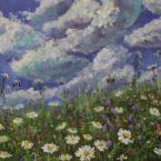suvine lillepõld õlimaal maastik kimalased keiu kuresaar kunstnik