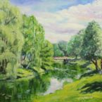 Laagri Pääsküla jõgi river landscape estonia oil painting art õlimaal maastik keiu kuresaar