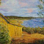 õlimaal maastik oil painting seascape meri Kaberneeme rand kuuriga Eesti estonia Keiu Kuresaar